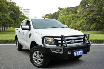 2014 Ford Ranger PX XLS 3.2 (4x4) White 6 Speed Manual Dual Cab Utility Kewdale Belmont Area Preview