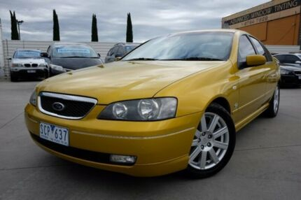 2003 Ford Fairmont BA Ghia Yellow 4 Speed Automatic Sedan