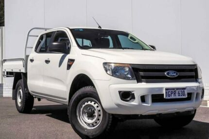 2014 Ford Ranger PX XL Double Cab White 6 Speed Sports Automatic Cab Chassis Maddington Gosnells Area Preview