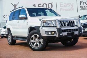 2008 Toyota Landcruiser Prado KDJ120R Grande White 5 Speed Automatic Wagon Westminster Stirling Area Preview