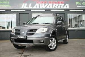 2005 Mitsubishi Outlander ZF MY06 XLS Grey 4 Speed Automatic Wagon Barrack Heights Shellharbour Area Preview