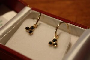 14K Black Diamond earrings .75 c London Ontario image 1