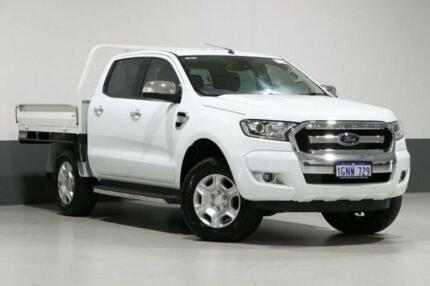2017 Ford Ranger PX MkII MY18 XLT 3.2 (4x4) White 6 Speed Automatic Dual Cab Utility Bentley Canning Area Preview