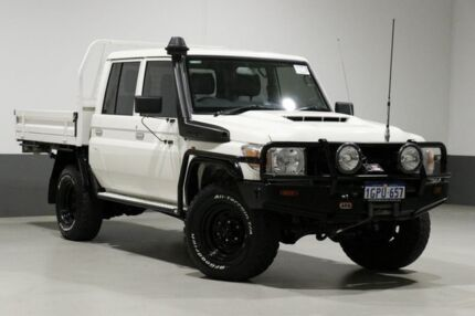 2018 Toyota Landcruiser VDJ79R MY18 Workmate (4x4) White 5 Speed Manual Double Cab Chassis Bentley Canning Area Preview
