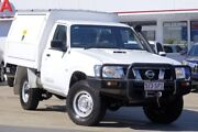 2012 Nissan Patrol GU 6 Series II DX White 5 Speed Manual Cab Chassis Woolloongabba Brisbane South West Preview