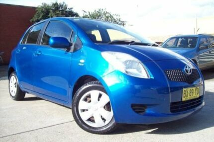 2007 Toyota Yaris NCP90R YR Blue 4 Speed Automatic Hatchback