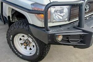 2014 Toyota Landcruiser White Manual Cab Chassis