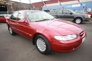 1998 Ford Falcon EL Futura Red 4 Speed Automatic Sedan Kingsville Maribyrnong Area Preview