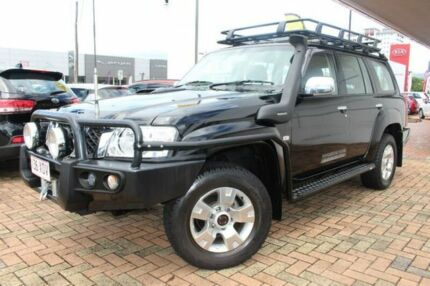 2014 Nissan Patrol Y61 GU 9 ST Black 5 Speed Manual Wagon