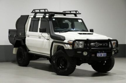 2017 Toyota Landcruiser LC70 VDJ79R MY17 GXL (4x4) White 5 Speed Manual Double Cab Chassis Bentley Canning Area Preview