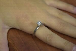 14K Gold 0.41ct Diamond Engagement Ring - Size 8 - Appraised