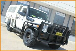 2014 Toyota Landcruiser VDJ78R MY12 Update Workmate (4x4) 3 Seat White 5 Speed Manual TroopCarrier Blacktown Blacktown Area Preview