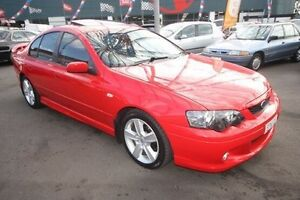 2003 Ford Falcon BA XR6 Turbo Red 4 Speed Sports Automatic Sedan Kingsville Maribyrnong Area Preview