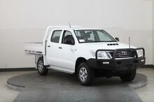 2013 Toyota Hilux KUN26R MY12 SR (4x4) White 5 Speed Manual Dual Cab Chassis Smithfield Parramatta Area Preview