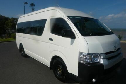 2015 Toyota Hiace KDH223R Commuter High Roof Super LWB White 4 Speed Automatic Bus South Gladstone Gladstone City Preview