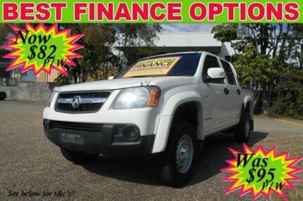 2011 Holden Colorado RC MY11 LX Crew Cab White 4 Speed Automatic Utility