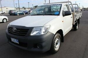 2012 Toyota Hilux TGN16R MY12 Workmate White 5 Speed Manual Cab Chassis Devonport Devonport Area Preview