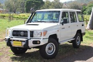 2011 Toyota Landcruiser VDJ76R MY10 Workmate White 5 Speed Manual Wagon Hawthorn Mitcham Area Preview