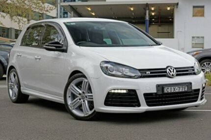 2012 Volkswagen Golf VI MY12.5 R DSG 4MOTION Candy White 6 Speed Sports Automatic Dual Clutch Hatchb Artarmon Willoughby Area Preview