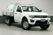 2011 Mitsubishi Triton MN MY11 GLX White 5 Speed Manual Cab Chassis Bentley Canning Area Preview