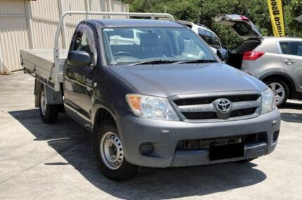 2007 Toyota Hilux TGN16R MY07 Workmate Grey 5 Speed Manual Cab Chassis