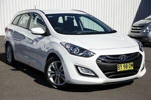 2014 Hyundai i30 GD Active Tourer White 6 Speed Sports Automatic Wagon Kings Park Blacktown Area Preview