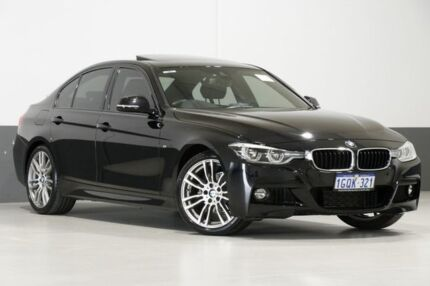 2017 BMW 318i F30 LCI MY17 M Sport Black 8 Speed Automatic Sedan Bentley Canning Area Preview