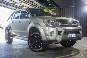 2009 Toyota Hilux KUN26R MY10 SR5 Silver 5 Speed Manual Utility Wangara Wanneroo Area Preview