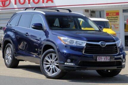 2014 Toyota Kluger GSU55R Grande AWD Dynamic Blue 6 Speed Sports Automatic Wagon