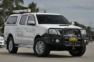 2012 Toyota Hilux KUN26R MY12 SR5 (4x4) White 4 Speed Automatic Dual Cab Pick-up Greenacre Bankstown Area Preview