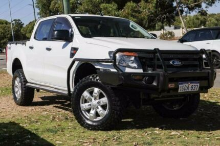 2014 Ford Ranger PX XL Double Cab White 6 Speed Sports Automatic Utility Wangara Wanneroo Area Preview