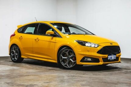 2016 Ford Focus LZ ST Yellow 6 Speed Manual Hatchback Welshpool Canning Area Preview