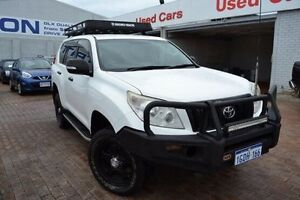2010 Toyota Landcruiser Prado KDJ150R GX White 5 Speed Sports Automatic Wagon Mandurah Mandurah Area Preview