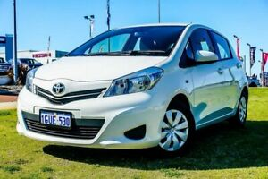 2014 Toyota Yaris NCP130R YR White 4 Speed Automatic Hatchback Wangara Wanneroo Area Preview