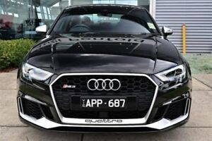 2017 Audi RS 3 8V MY18 S tronic quattro Black 7 Speed Sports Automatic Dual Clutch Sedan