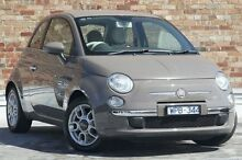 2008 Fiat 500 Series 1 Lounge Grey 6 Speed Manual Hatchback North Melbourne Melbourne City Preview