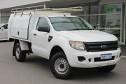 2012 Ford Ranger PX XL 4x2 Hi-Rider White 6 Speed Sports Automatic Cab Chassis Osborne Park Stirling Area Preview
