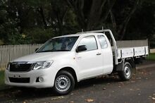2013 Toyota Hilux GGN15R MY12 SR Xtra Cab White 5 Speed Automatic Utility Hawthorn Mitcham Area Preview