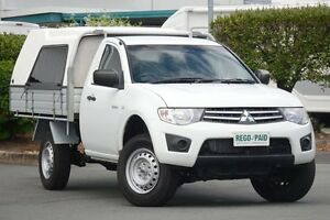 2011 Mitsubishi Triton MN MY12 GLX White 4 Speed Automatic Cab Chassis Acacia Ridge Brisbane South West Preview