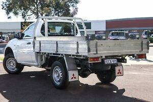 2013 Mitsubishi Triton MN MY13 GLX White 4 Speed Sports Automatic Cab Chassis Cannington Canning Area Preview