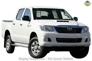 2013 Toyota Hilux KUN26R MY12 SR Double Cab White 4 Speed Automatic Utility Westminster Stirling Area Preview