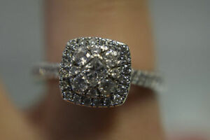 14K White Gold with 1.00CTTW Engagement Ring*