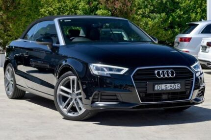 2016 Audi A3 8V MY17 S tronic Black 7 Speed Sports Automatic Dual Clutch Cabriolet Gosford Gosford Area Preview