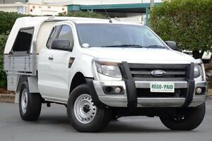2014 Ford Ranger PX XL Super Cab Cool White 6 Speed Manual Cab Chassis Acacia Ridge Brisbane South West Preview