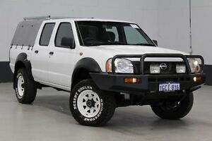 2003 Nissan Navara D22 Series 2 DX (4x4) White 5 Speed Manual 4x4 Dual Cab Pick-up Bentley Canning Area Preview