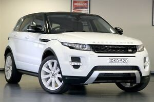 2012 Land Rover Range Rover Evoque L538 MY12 eD4 Coupe Dynamic Fuji White 6 Speed Manual Wagon North Willoughby Willoughby Area Preview