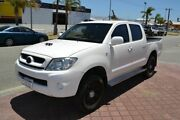 2008 Toyota Hilux KUN26R 08 Upgrade SR (4x4) White 5 Speed Manual Dual Cab Chassis Rockingham Rockingham Area Preview