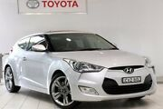 2012 Hyundai Veloster FS + Coupe D-CT Silver 6 Speed Sports Automatic Dual Clutch Hatchback Waterloo Inner Sydney Preview