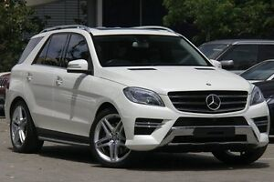 2014 Mercedes-Benz ML 166 500 (4x4) White 7 Speed Automatic Wagon Petersham Marrickville Area Preview