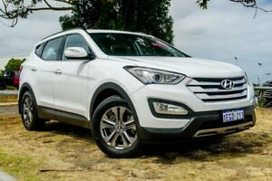 2012 Hyundai Santa Fe DM MY13 Active White 6 Speed Sports Automatic Wagon